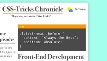 CSS-Tricks Chronicle XXX | CSS-Tricks