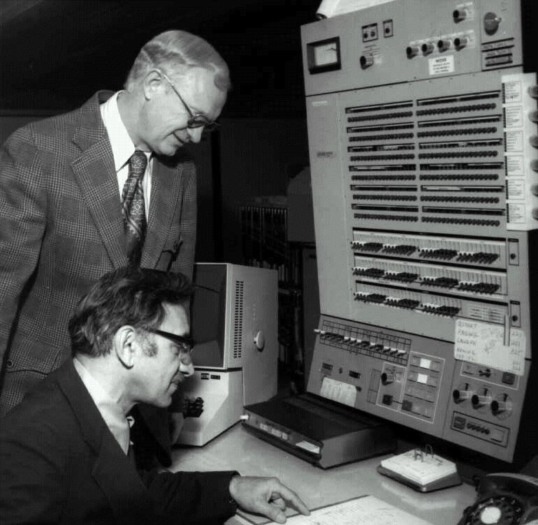 An IBM mainframe console from the 70's