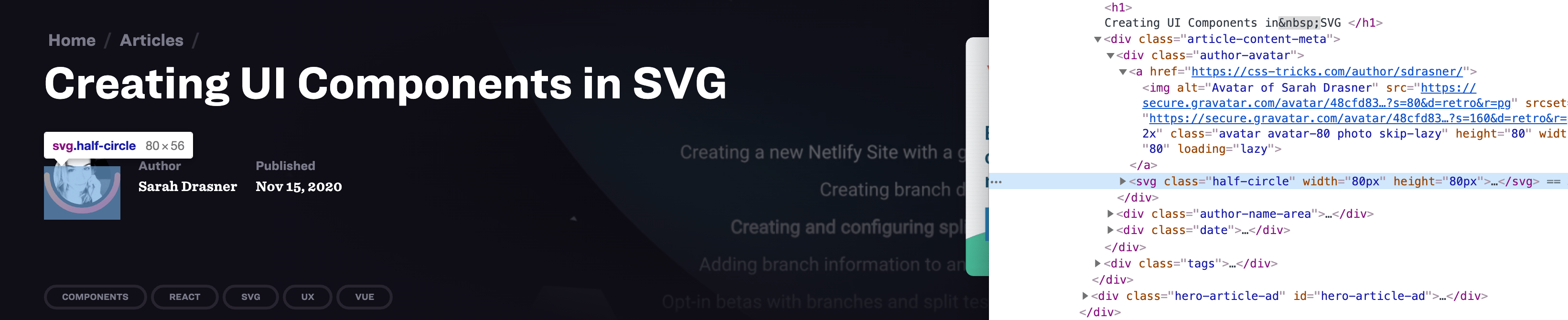 Creating UI Components in SVG
