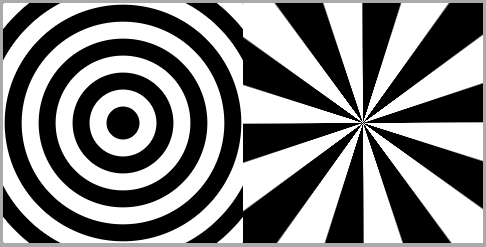 Screenshot showing smoothed edges between black and white areas in the two gradients.