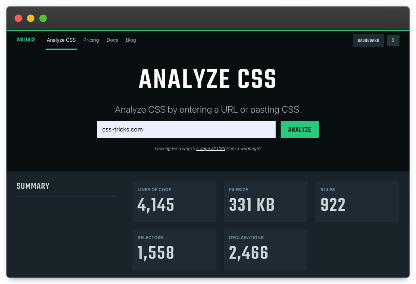 Tools for Auditing CSS