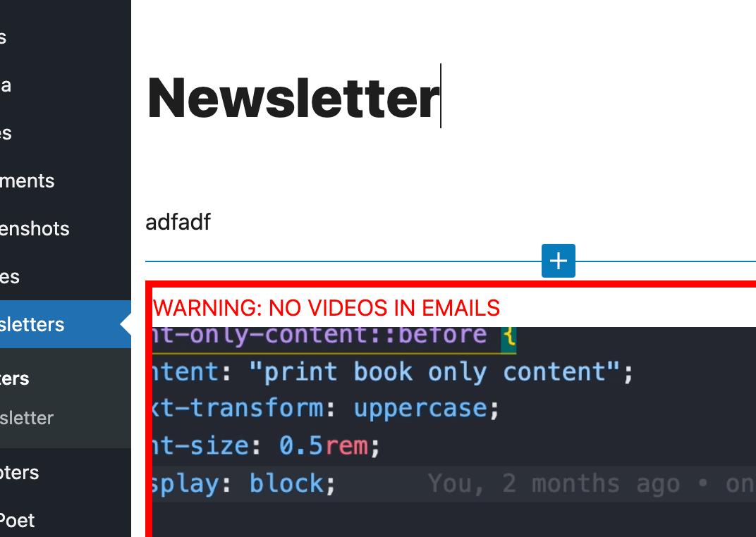 WordPress Admin Warnings in the Block Editor