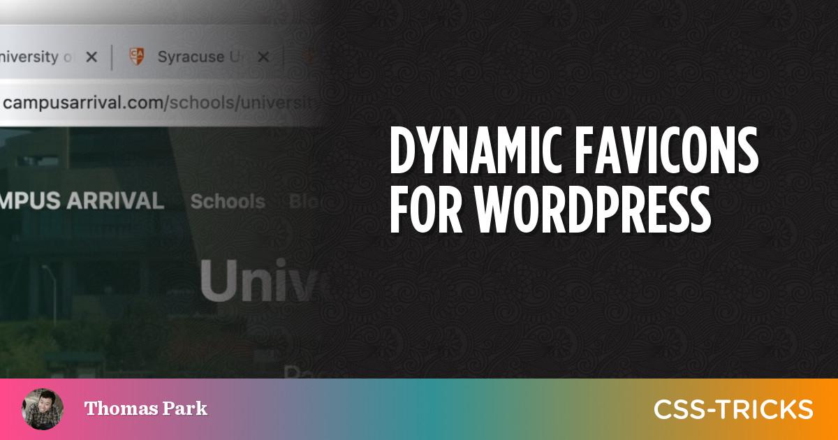 Dynamic Favicons for WordPress