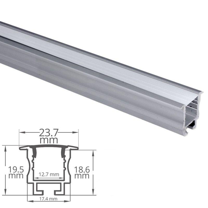 profile aluminium encastrable pour ruban led craft e05