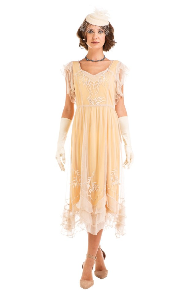 Age of Love Olivia 1920s Flapper Style Dress in Lemon by ...