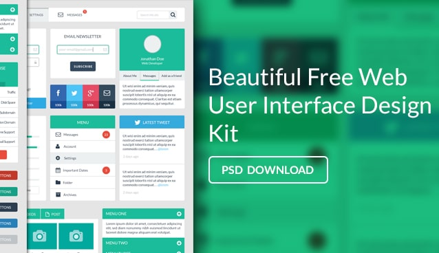 Free Web User Interface Design Kit PSD Css Author