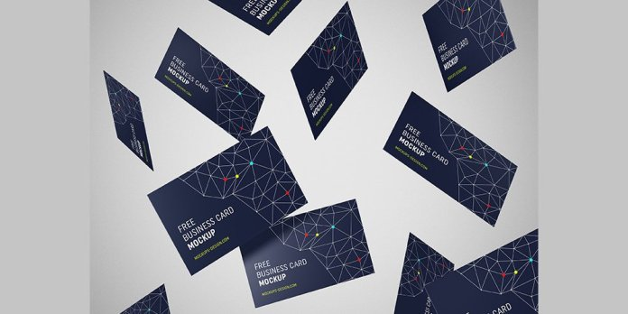30 high quality free business card mockup psd gfx hustle free flying business cards mockup reheart Images
