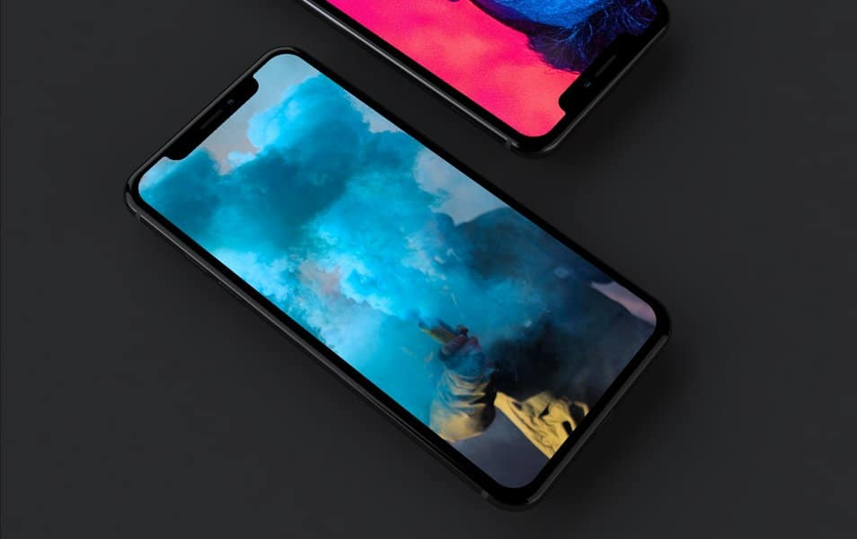 iPhone X Mockup / Dark