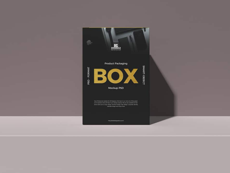 Download Free Product Packaging Box Mockup PSD » CSS Author