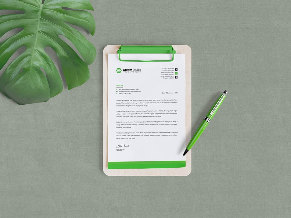 Download Free A4 Size Clipboard Mockup PSD » CSS Author