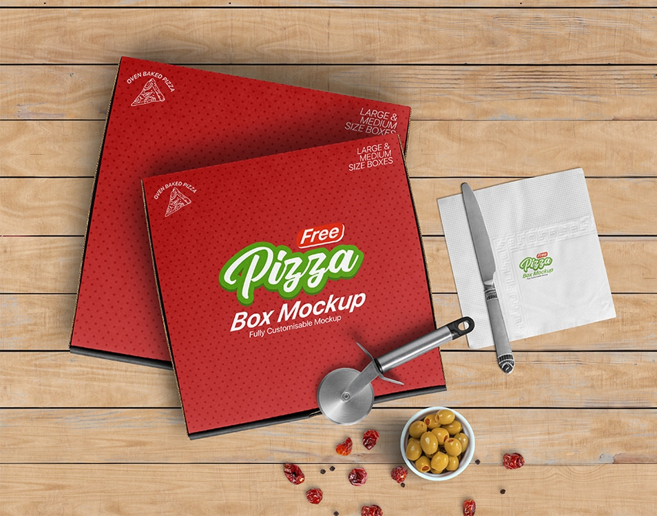 Download Free Pizza Box Mockup » CSS Author