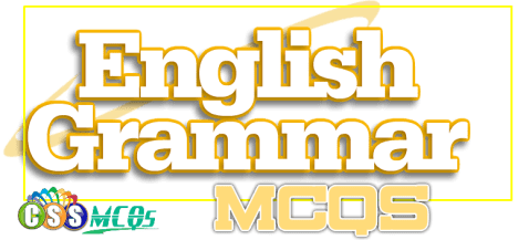 English Grammar MCQs written on a paper