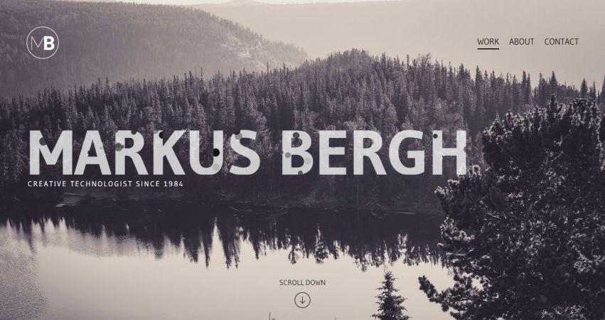 Markus Bergh Portfolio