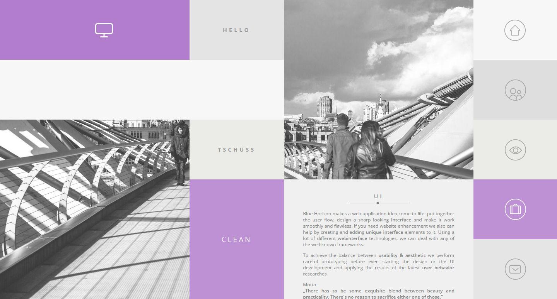 Blue Horizon—Fluid Grid Metro UI