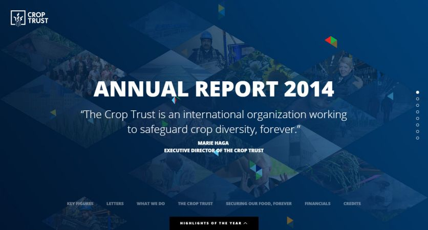Crop Trust - Annual Report 2014