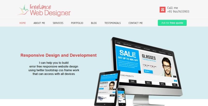 Freelance WebDesigner — Sajesh