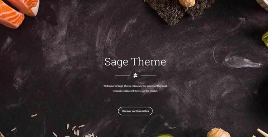 Sage - Restaurant WordPress Theme