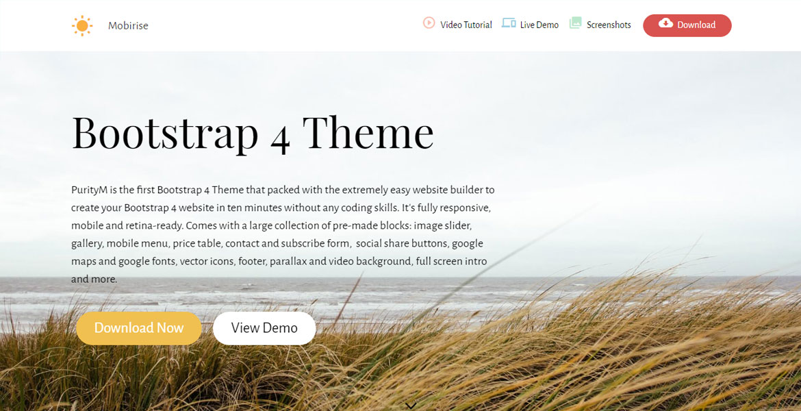Free Bootstrap Theme - CSS Nectar CSS Gallery