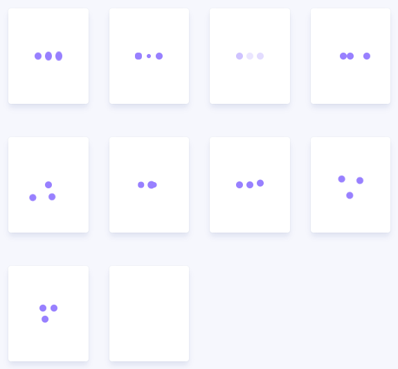 Fancy Three-dots Loading Spinners With Pure CSS – Three Dots