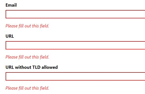 Extend HTML5 Form Validation With Custom Rules And Errors - Bouncer.js