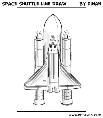Space Shuttle Line Draw - Bitstrips