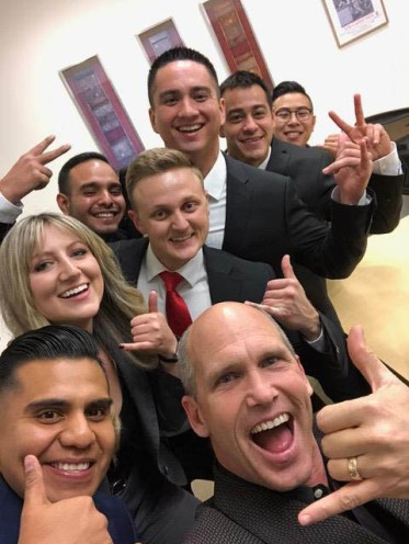Professor Scott Sorrell with his team of student consultants after they finished their award-winning project for Keller Williams!