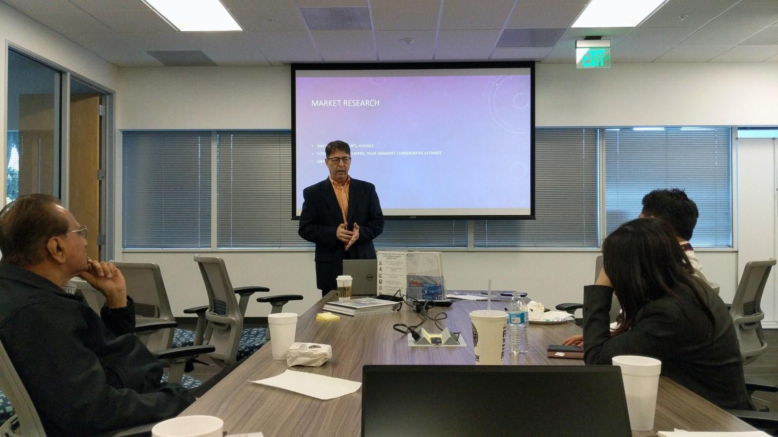 Bennett Marks at CSUF Startup Incubator