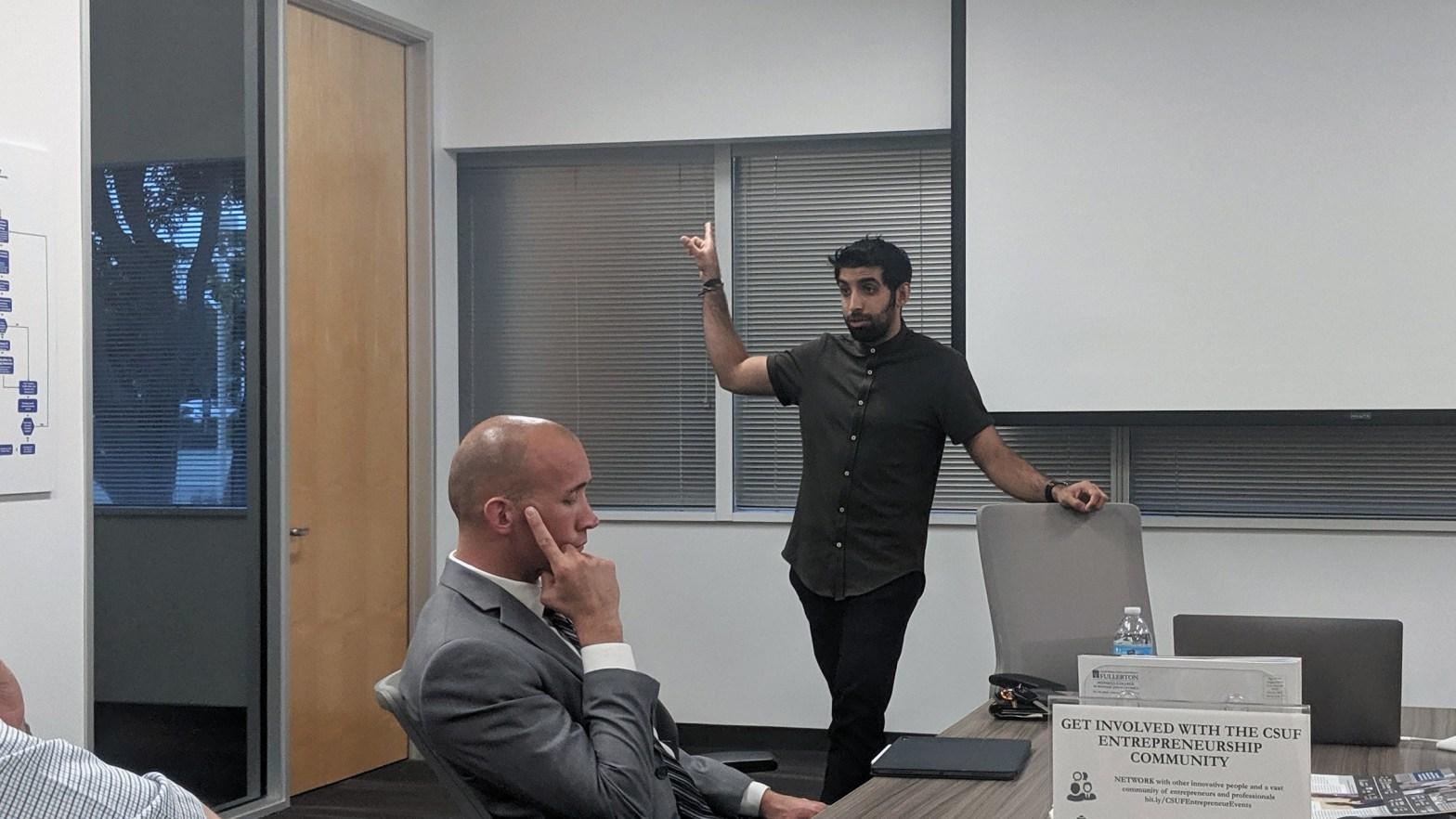 Dalip Jaggi at CSUF Startup Incubator
