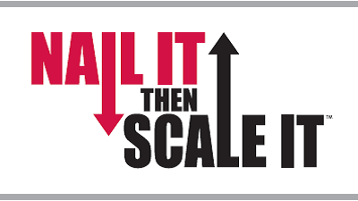 Nail It Then Scale It book cover title