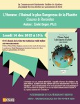 Lancement du livre : « L'Homme : l'Animal le plus Dangereux de la Planète : Causes & Remèdes »