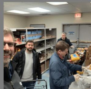 selfie-at-Catholic-Charities-food-pantry-300x294