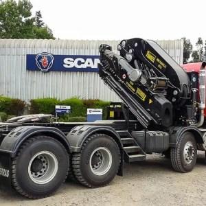 Macara pe camion Effer 855