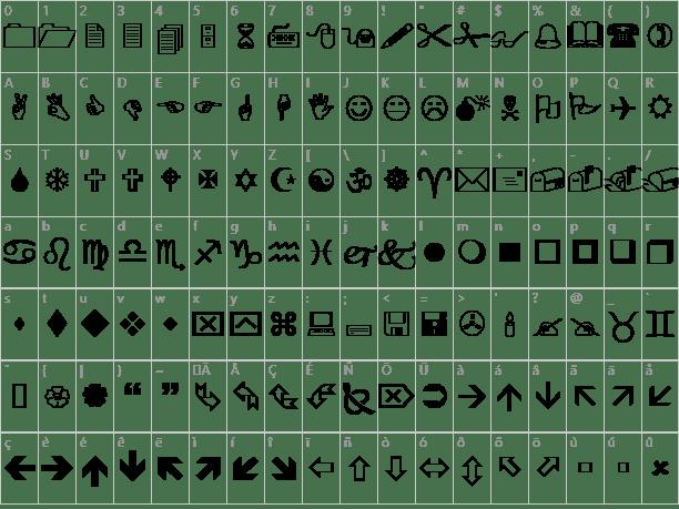 Hasil gambar untuk Font wingdings