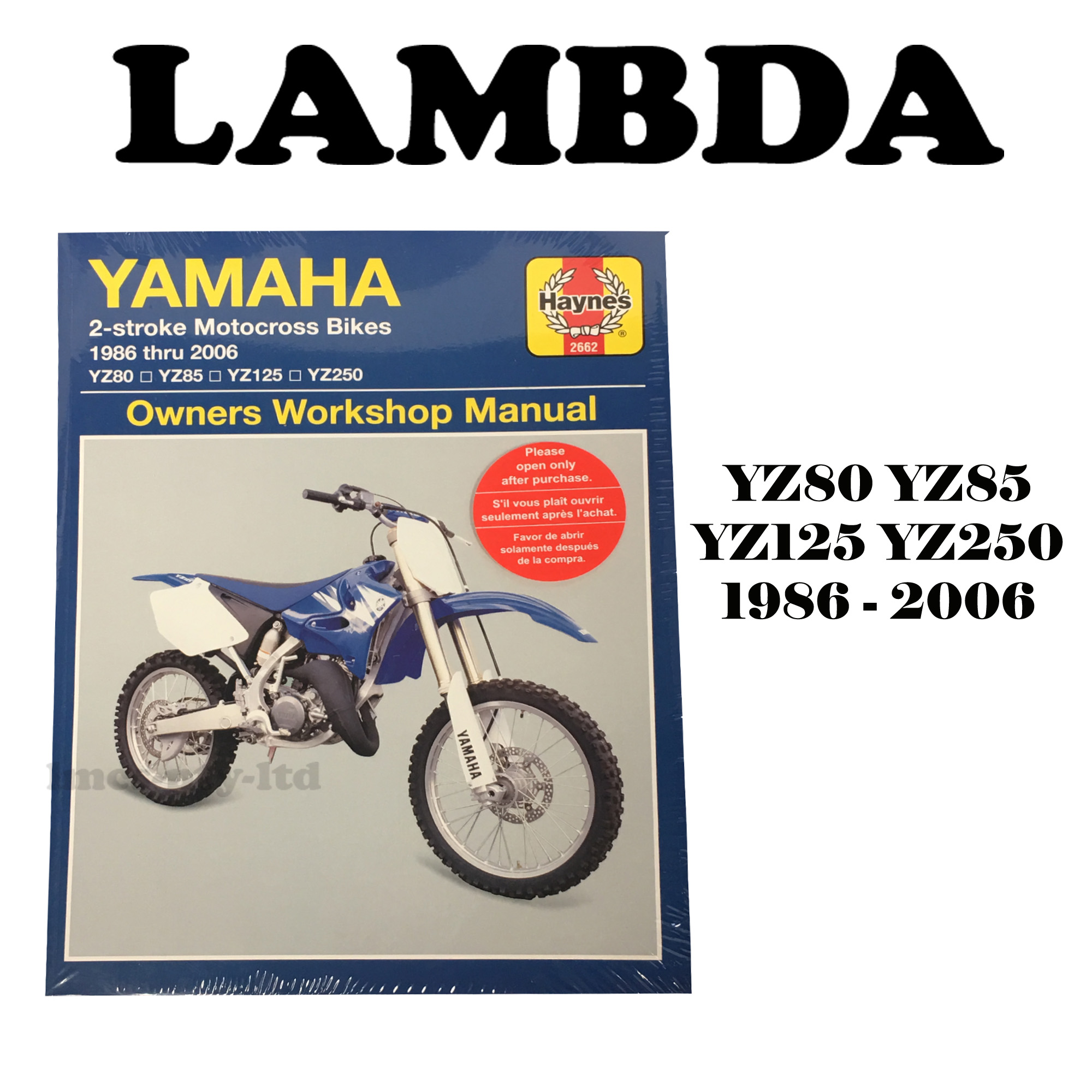 Manual Book By Haynes For Yamaha Yz80 Yz85 Yz125 Yz250