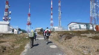 Walking near the summit