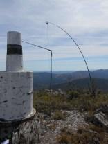 CT2HTY/p ask me to go on 2m band. The trig have an horizontal hole. I have a walking pole and a slim Jim antenna!...