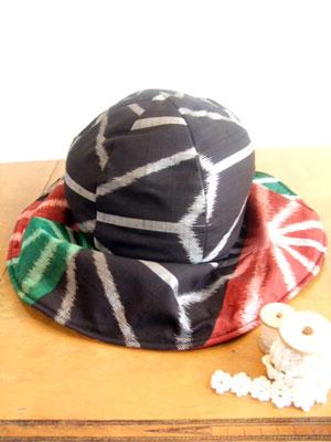 着物リメイクで帽子(キャプリーヌ/ハンチング)を作る