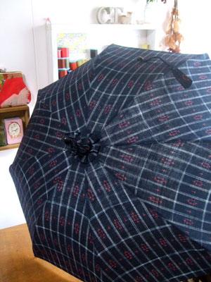 リピーターのお客様の着物リメイク…日傘とショルダーバッグ