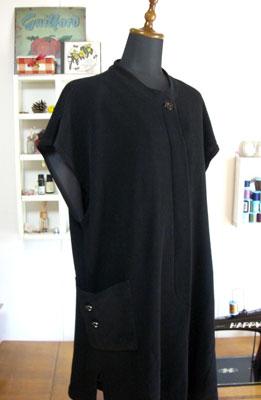 着物リメイクで服を作る…サンプルからロングベストを作る