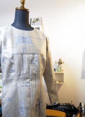 型紙無しで作ることが出来る着物リメイクの方法