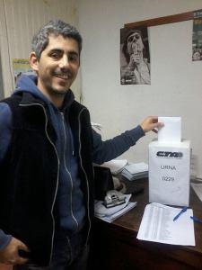 El compañero Luciano Gorraiz, candidato a Secretario General de la CTA de Chascomús.