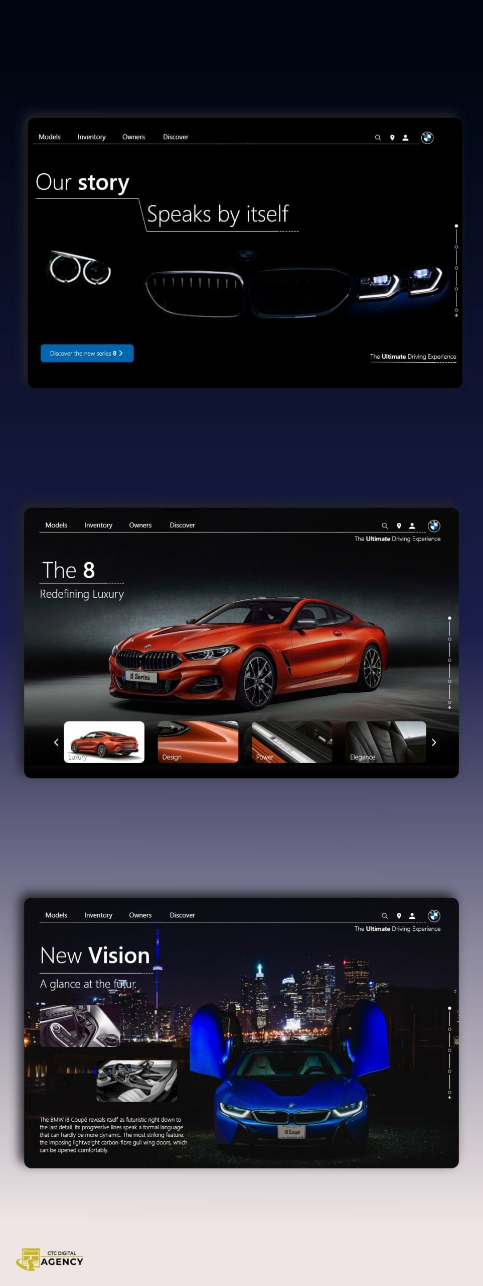 Conceptualisation for BMW by CTC Digital Agency