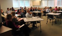 Clark College execs and SMEs gathered for the Wave 1 Kickoff meeting October 9.