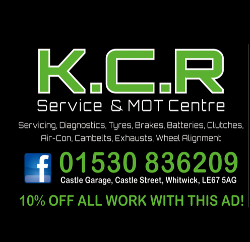 Advert for KCR MOT