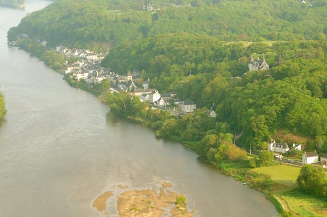 Vue aérienne de Chênehutte