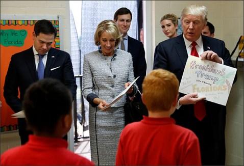 Donald Trump,Betsy DeVos,Marco Rubio