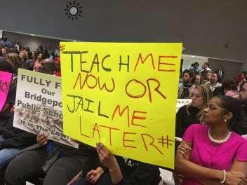 Bridgeport student sign
