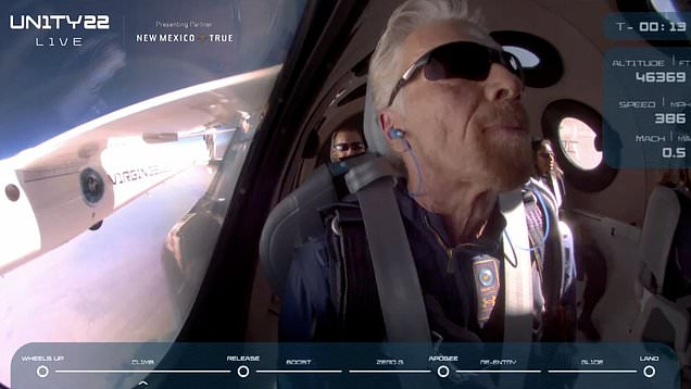 Virgin Galactic successfully sends Richard Branson to the edge of space