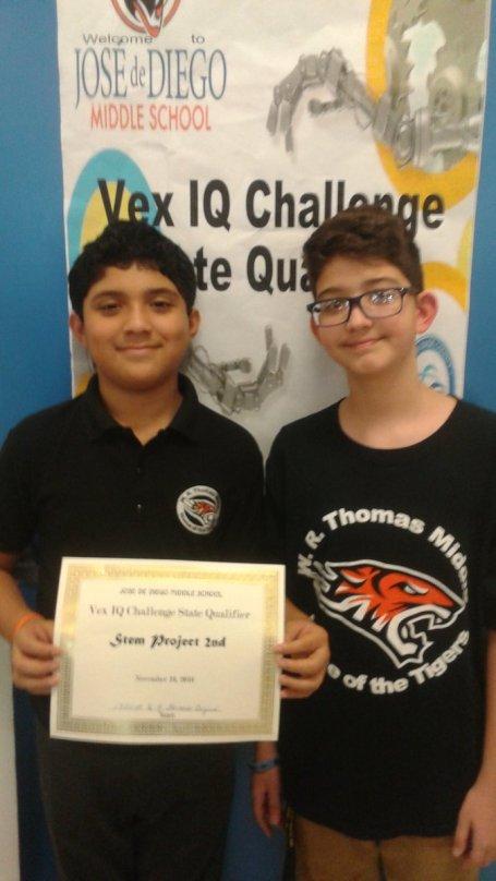 W.R. Thomas Tigerbots take 2nd for STEM Research @josediegoms