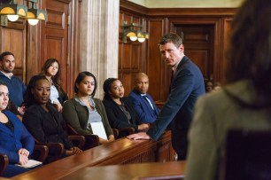 """CHICAGO JUSTICE -- """"Double Helix"""" Episode 104 -- Pictured: Philip Winchester as Peter Stone -- (Photo by: Parrish Lewis/NBC)"""